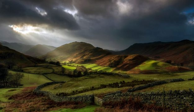 Crepuscular Rays, Martindale, Lake District