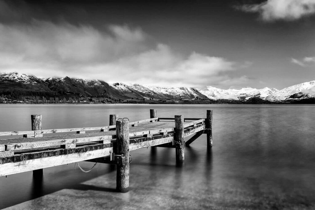 Wooden Pier, Wanaka, New Zealand