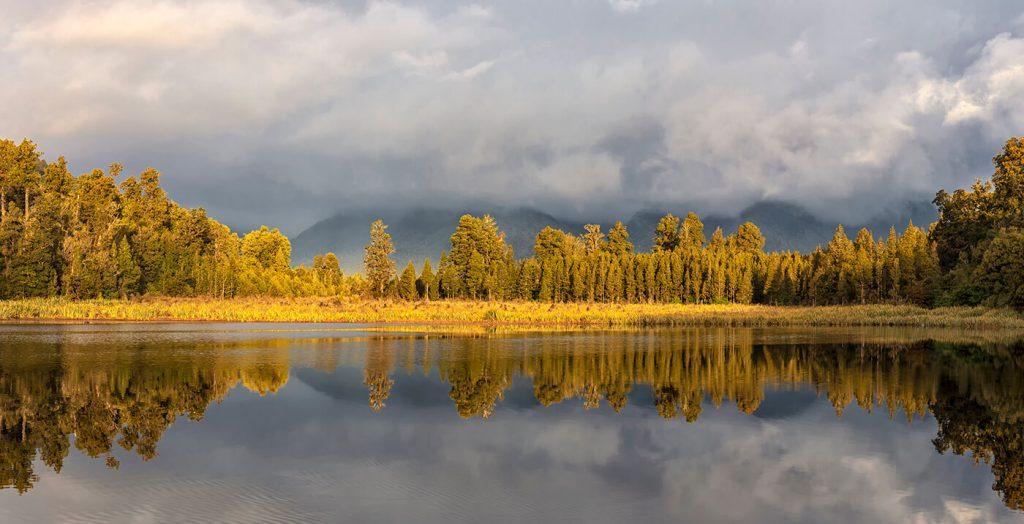 Sunset, Lake Matheson, New Zealand