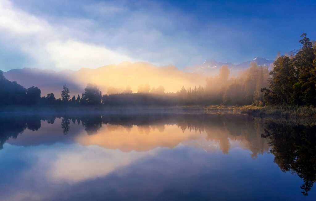 Sunrise, Lake Matheson, New Zealand