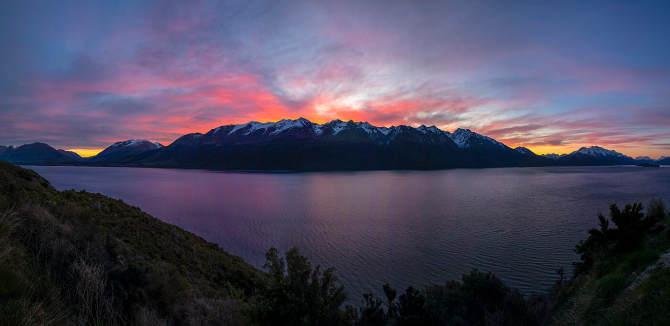Sunset, Mount Turnbull, Queenstown, New Zealand