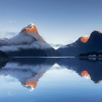 Sunrise over Mitre Peak, Milford Sound Fiordland National Park, South Island, New Zealand, Melvin Nicholson Photography