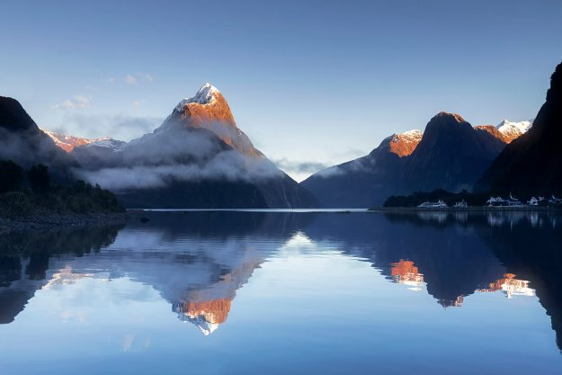 Sunrise over Mitre Peak, Milford Sound Fiordland National Park, South Island, New Zealand, Melvin Nicholson Photography