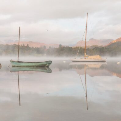 Two Boats at Sunrise, Waterhead, Windermere, Lake District