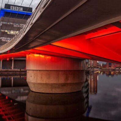 Media City Footbridge, Salford Quays. Manchester