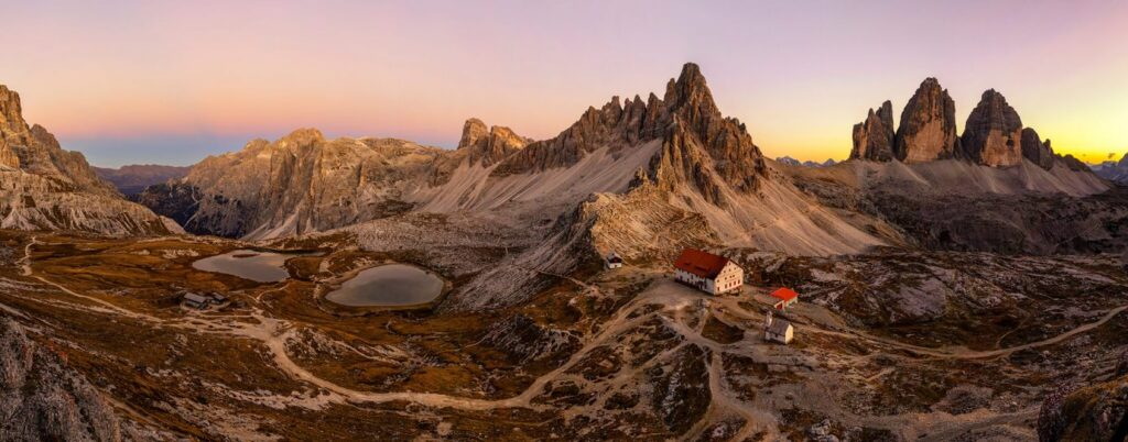 Rifugio Locatelli, Tre Cime di Laveredo, Dolomites, Italy, Melvin Nicholson Photography