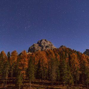 Stars Above Lago di Antorno, Dolomites, Italy