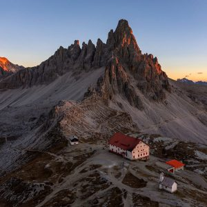 Sunset over Monte Paterno, Dolomites, Italy