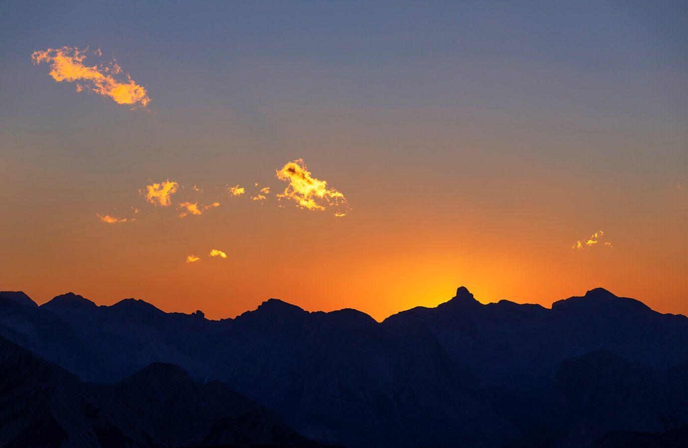 Sunset, Tre Cime di Lavaredo, Dolomites, Italy