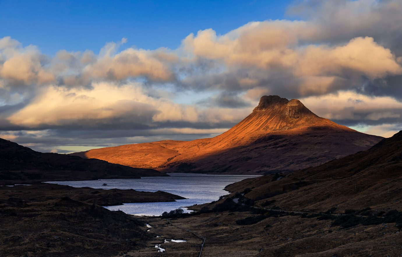 Sunrise, Stac Pollaidh, Assynt, Scotland