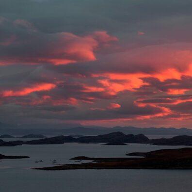 Sunset, Reiff, Ruhba Mòr Peninsula, Ross-shire