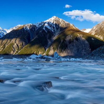 Tasman Lake, Mt Cook National Park, New Zealand