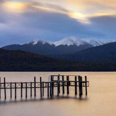 Sunset, Markura Yacht Club Jetty, Te Anau, New Zealand