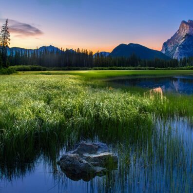 Vermilion Lake, Banff National Park, Canadian Rockies. Anne Strickland Photography