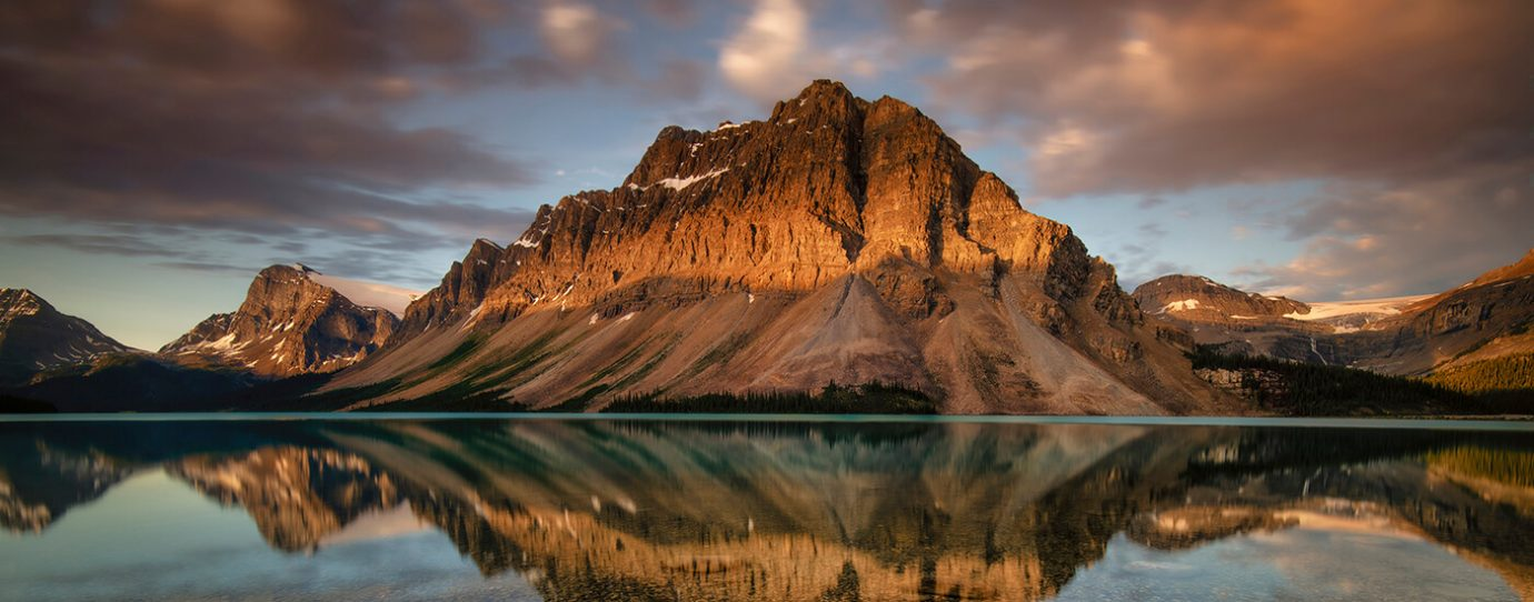 Bow Lake and Crowfoot Mountain, Banff National Park, Canadian Rockies. Anne Strickland Photography
