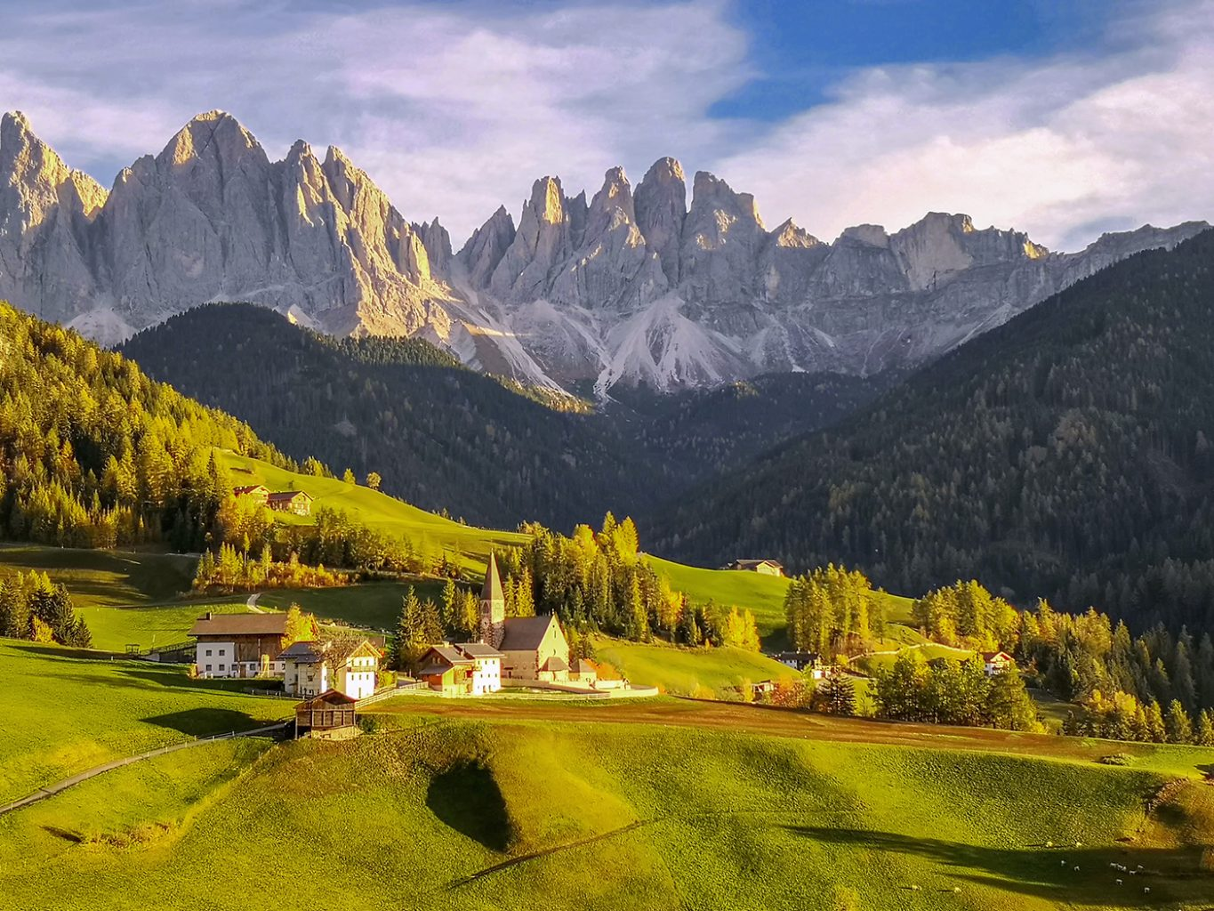 Santa Maddalena Church, South Tyrol, Dolomites, Italy