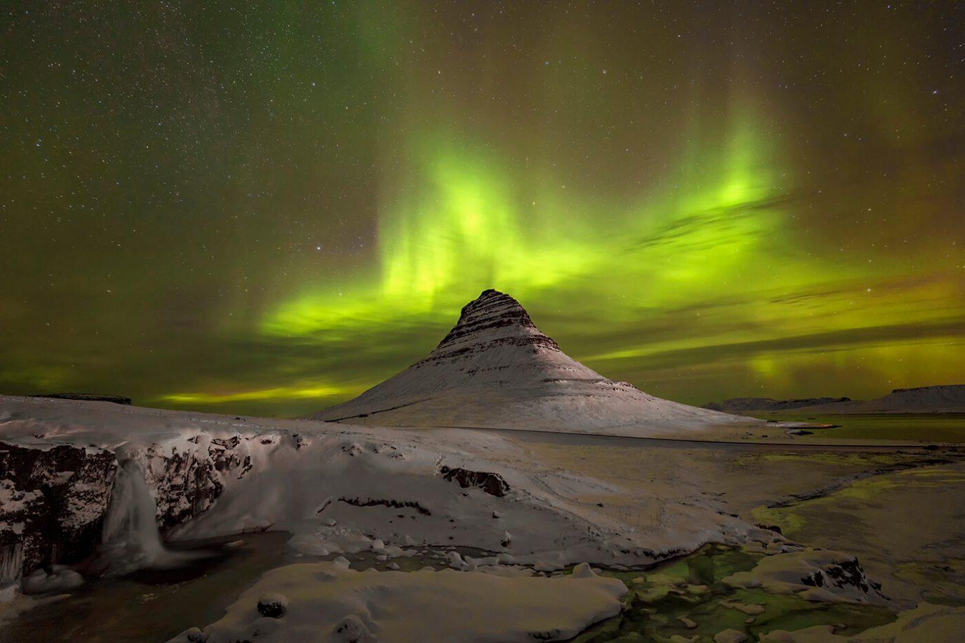 Aurora Borealis, Kirkjufell, Snaefellsnes Peninsula, Iceland, Melvin Nicholson Photography