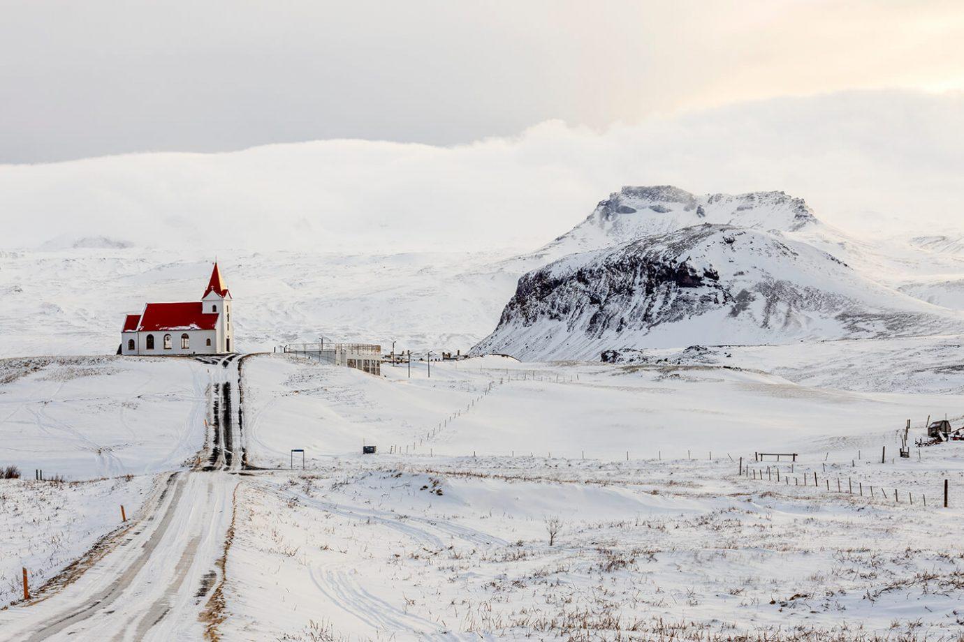 Ingjaldshólskirkja Church, Snaefellsnes Peninsula, Iceland, Melvin Nicholson Photography