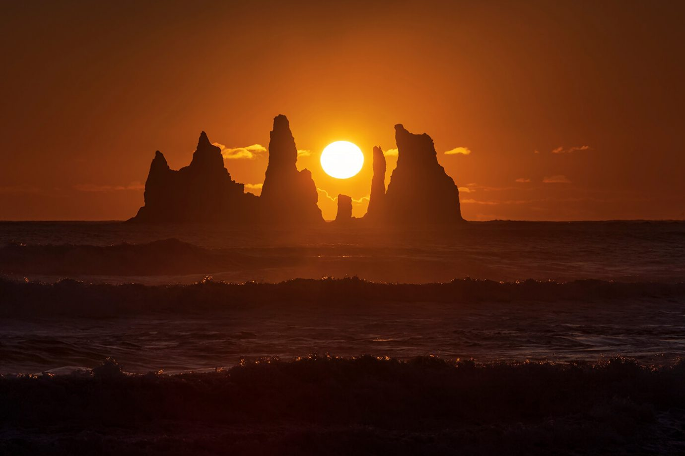 Sunset, Reynisdrangar Sea Stacks, Vik, Iceland, Melvin Nicholson Photography