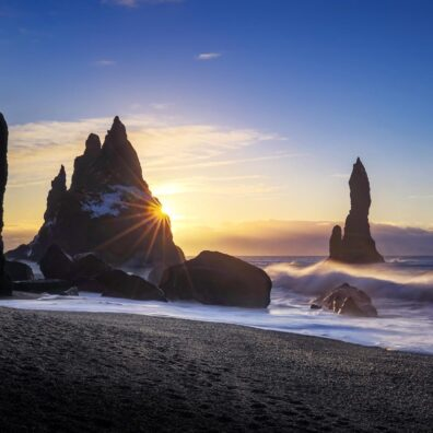Sunrise, Reynisdrangar Sea Stacks, Vik, Iceland, Melvin Nicholson Photography