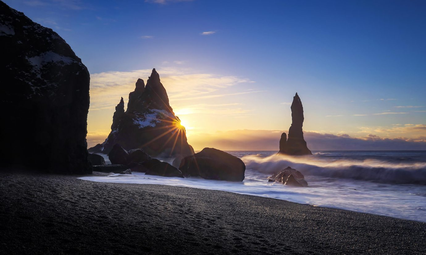 Sunrise, Reynisdrangar Sea Stacks, Vik, Iceland, Melvin Nicholson Photography