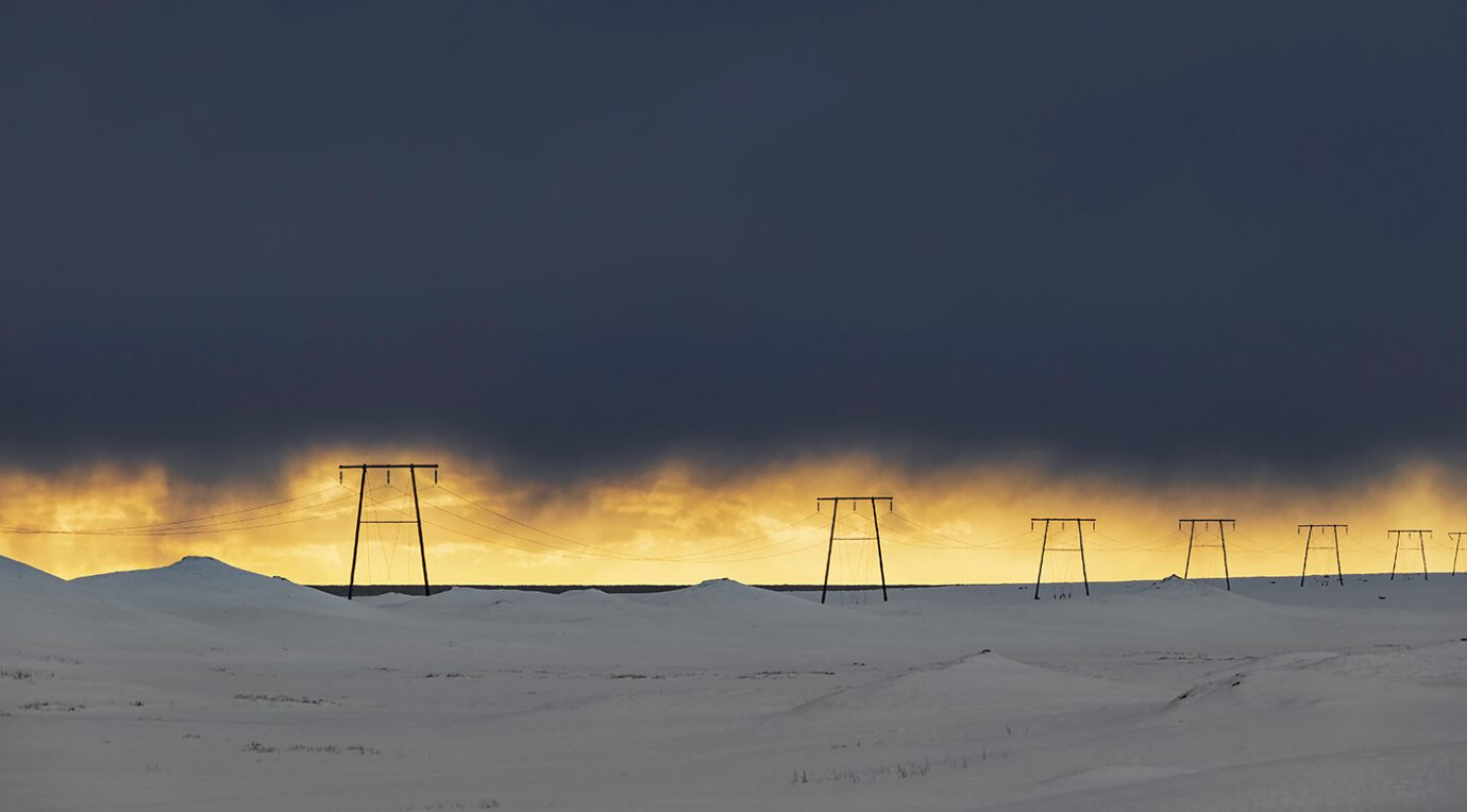 Electricity Pylons, Iceland, Melvin Nicholson Photography