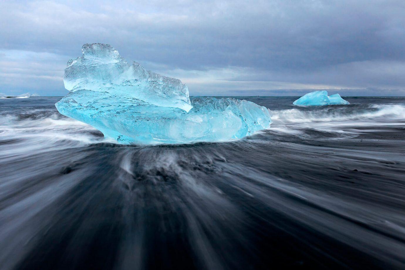 Icebergs, Diamond Beach, Jökulsárlón, Iceland, Melvin Nicholson Photography