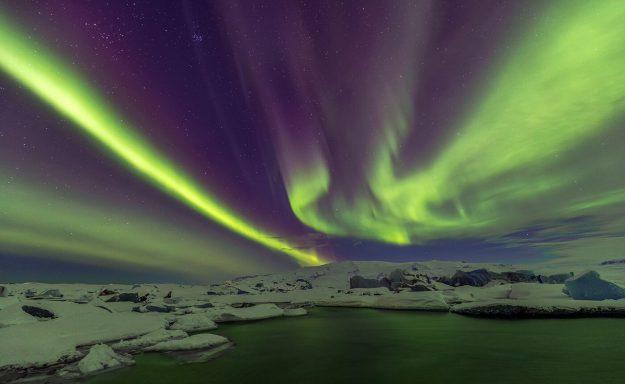 Aurora Borealis, Jökulsárlón Ice Lagoon, Iceland, Melvin Nicholson Photography