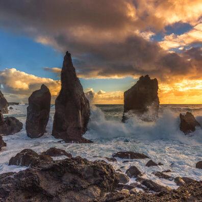 Reynisdrangar Sea Stacks, Reykjanes Peninsula, Iceland, Melvin Nicholson Photography