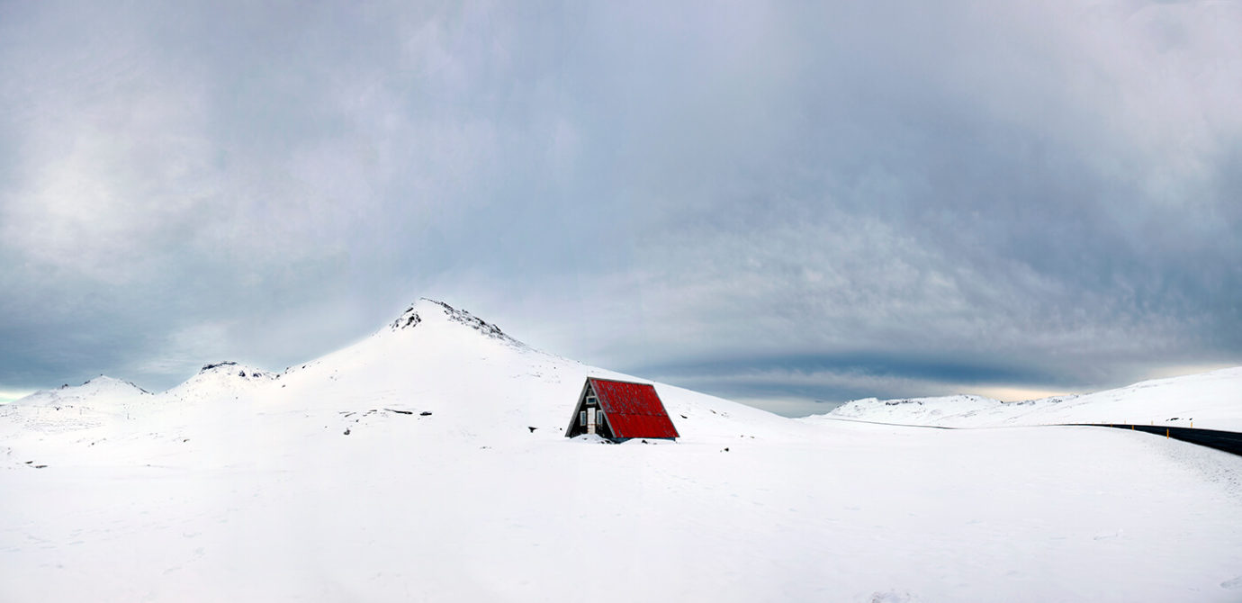 Emergency Mountain, Hut, Iceland, Melvin Nicholson Photography