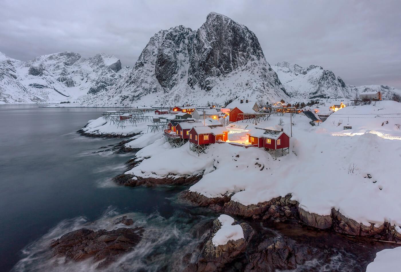 Red Rorbuers, Hamnoy, Lofoten, Norway