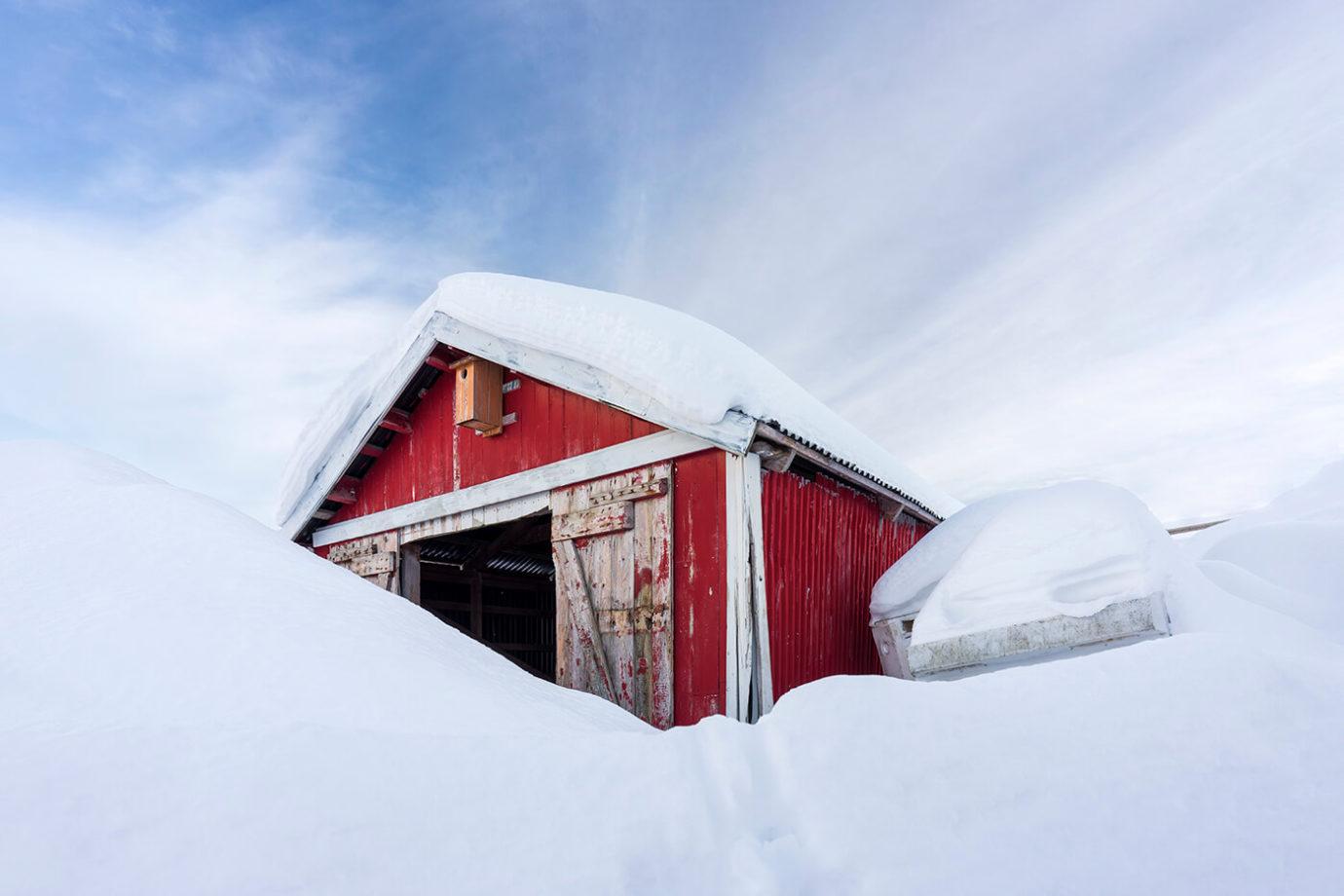 Red Cabin, Å, Lofoten, Norway