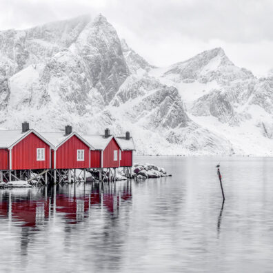 Red Rorbuers, Hamnoy, Lofoten, Norway