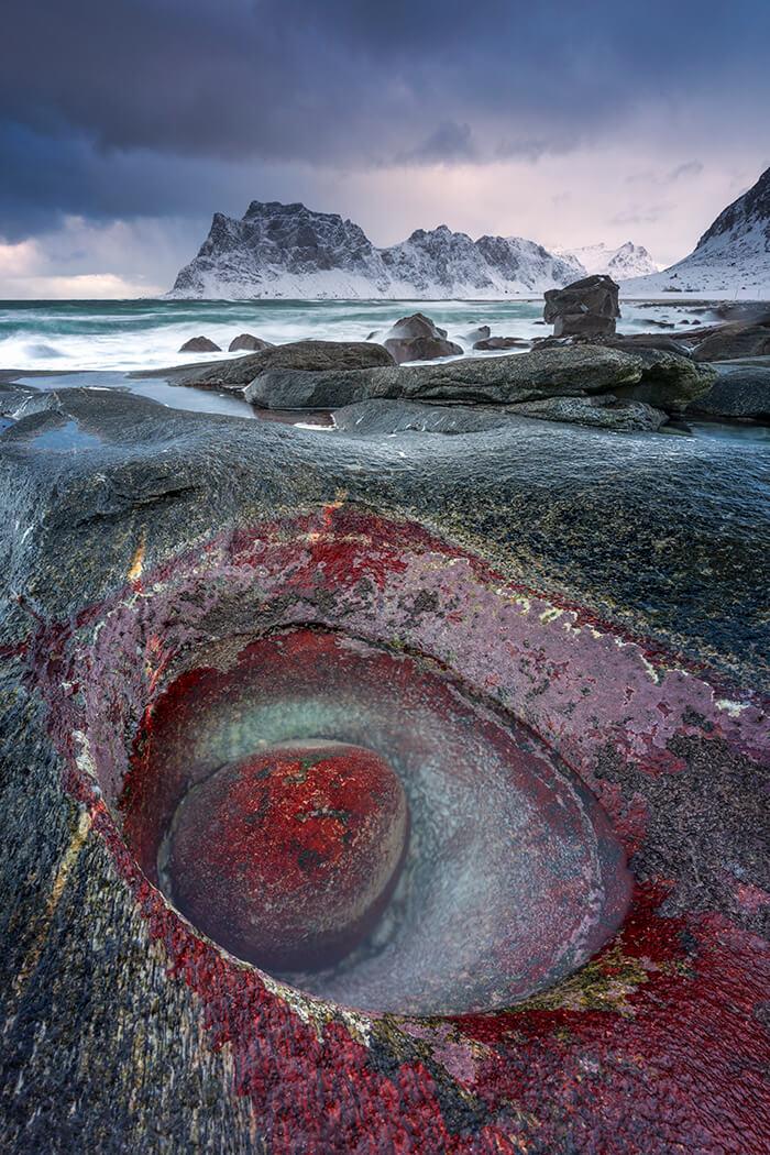 Monster's Eye, Uttakleiv Beach, Lofoten, Norway