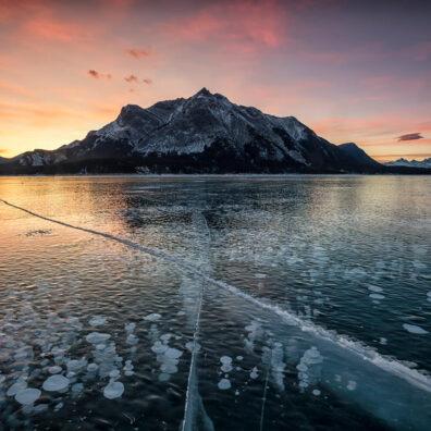 Sunrise, Abraham Lake, Alberta, Canada