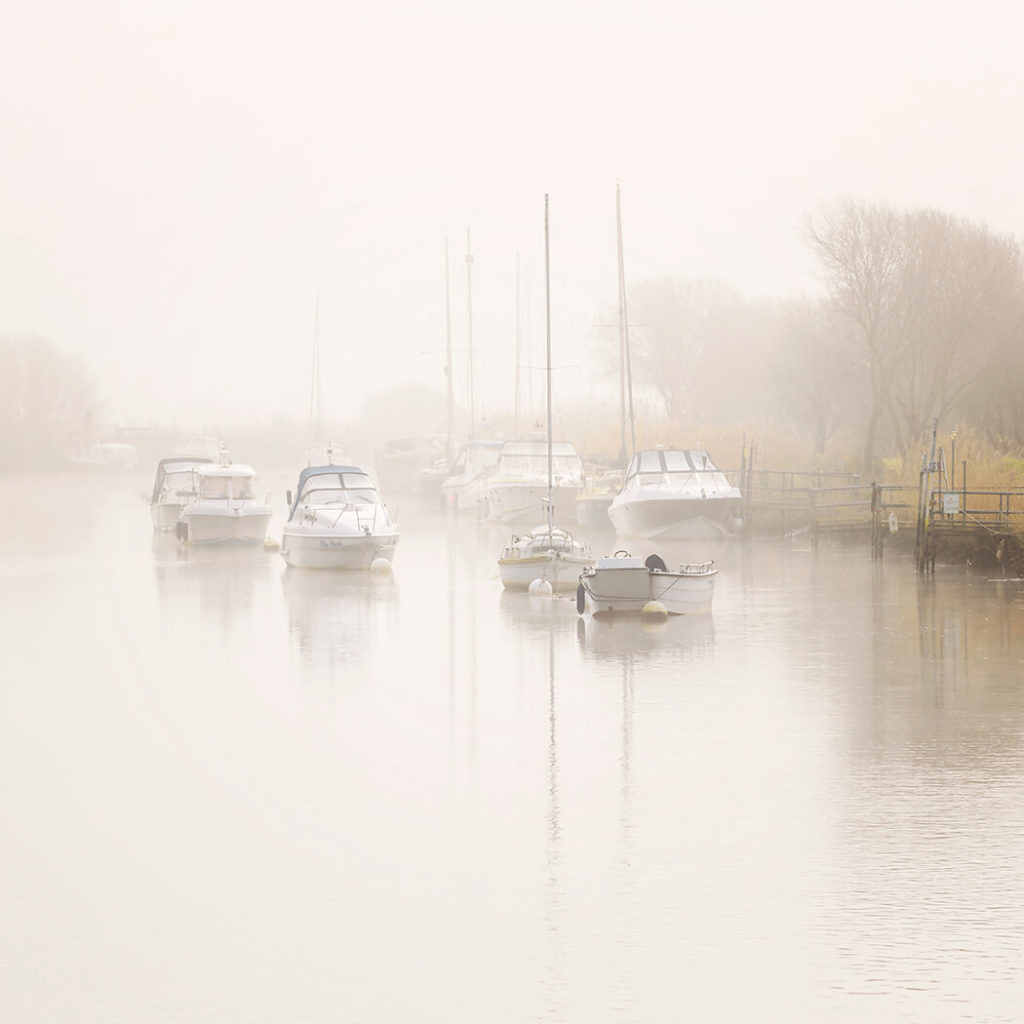 Misty Morning, River Frome, Wareham, Dorset