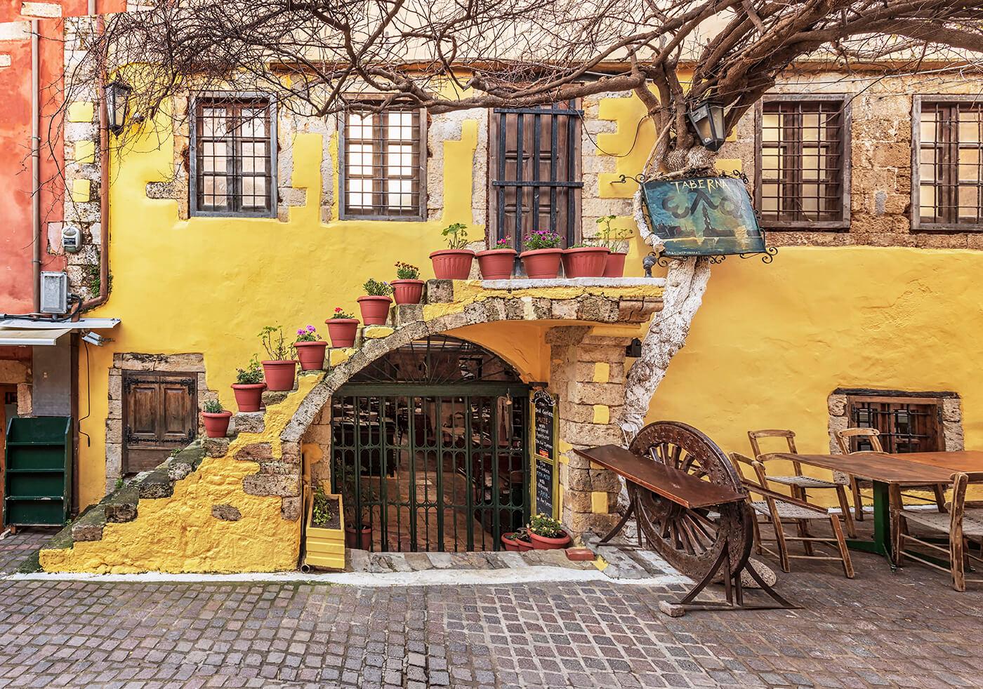 Colourful Restaurant, Chania, Crete, Greece