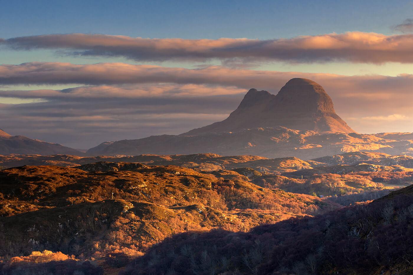 Sunrise, Cùl Mòr and Suilven, Assynt, Scotland