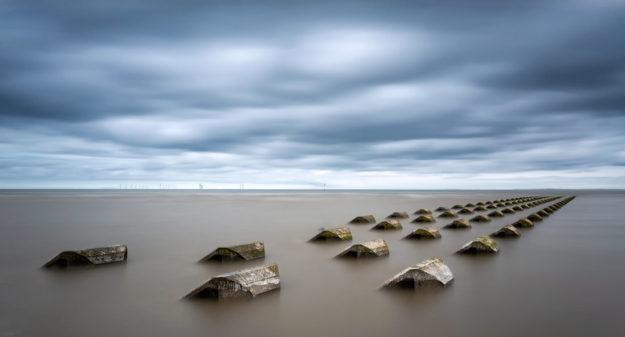 Sea Defences, New Brighton, Merseyside