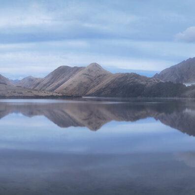 Misty Morning, Moke Lake, Queenstown, New Zealand