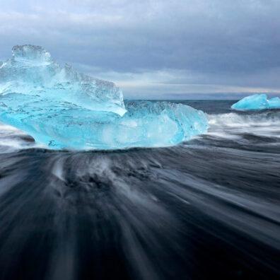 Blue Ice, Diamond Beach, Jokulsarlon, Iceland