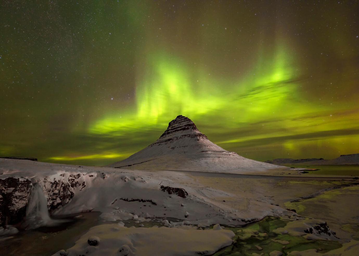 Kirkjufell Aurora Borealis, Iceland