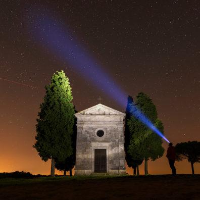 Under The Stars, Chapel of the Madonna di Vitaleta, Tuscany, Italy