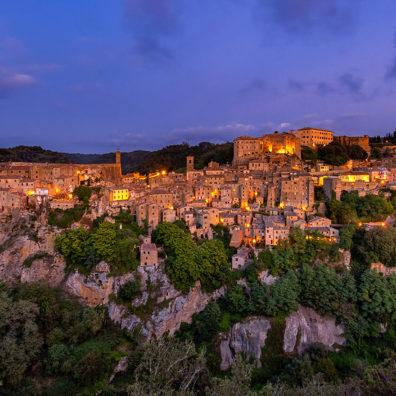Blue Hour, Sorano, Tuscany, Italy