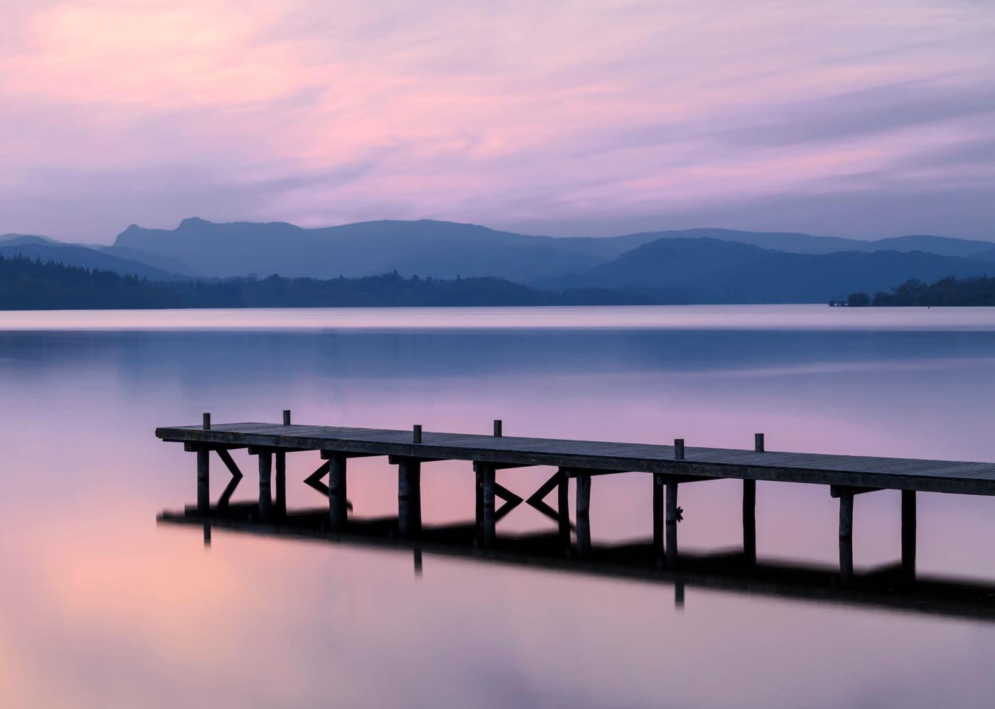 Sunset, Millerground, Lake District
