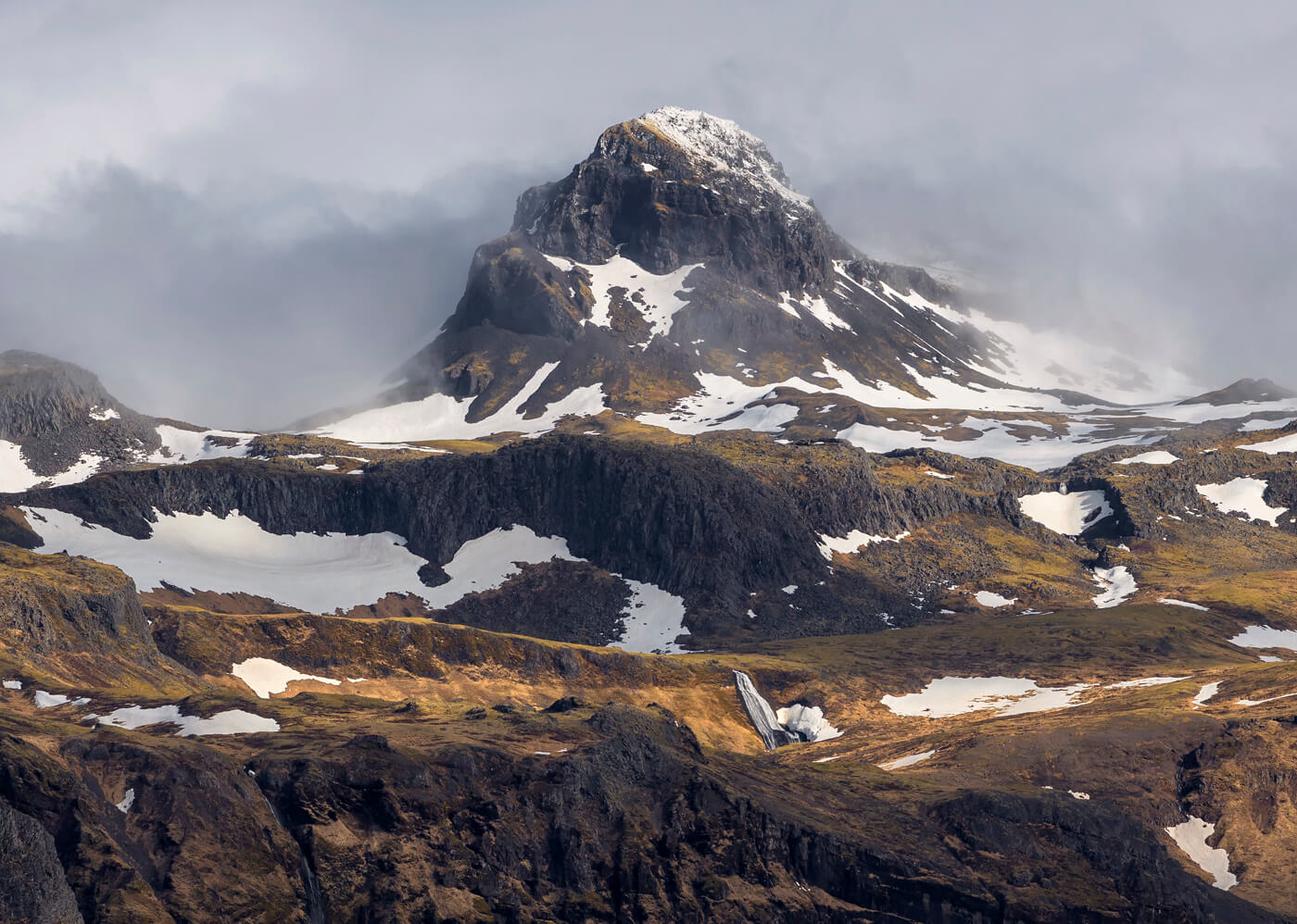 Snow Capped Mountain, Snaefellsnes Peninsula, Iceland