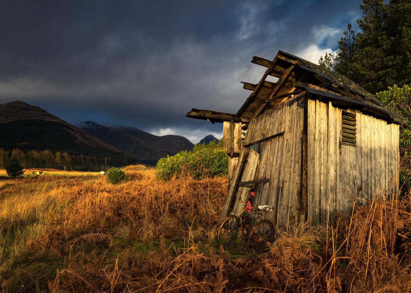Old Wooden Shed, Glen Etive, Glencoe, Scotland