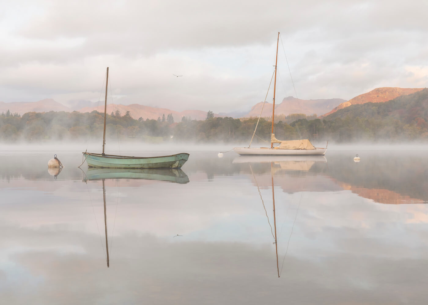Misty Morning, Windermere, Lake District