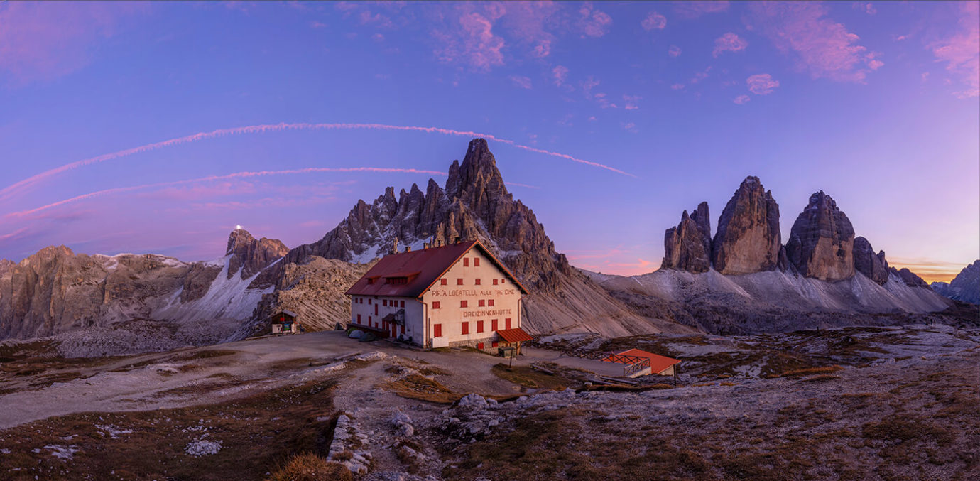 Sunset Over the Tre Cime di Lavaredo, Dolomites, Italy - Melvin Nicholson Photography