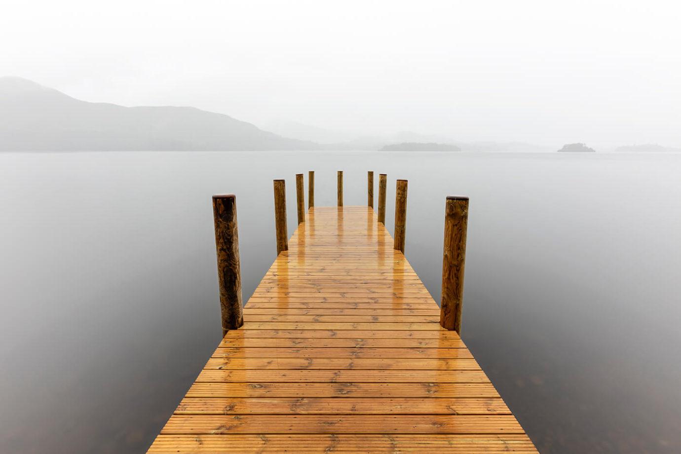 New Ashness Landing Pier, Derwentwater, Lake District